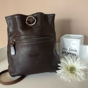 ROOTS backpack purse